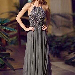 Jovani Flowy Long Prom Dress 92605